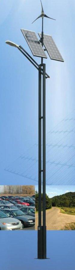 Lampa hybrydowa solarno-wiatrowa Czapla