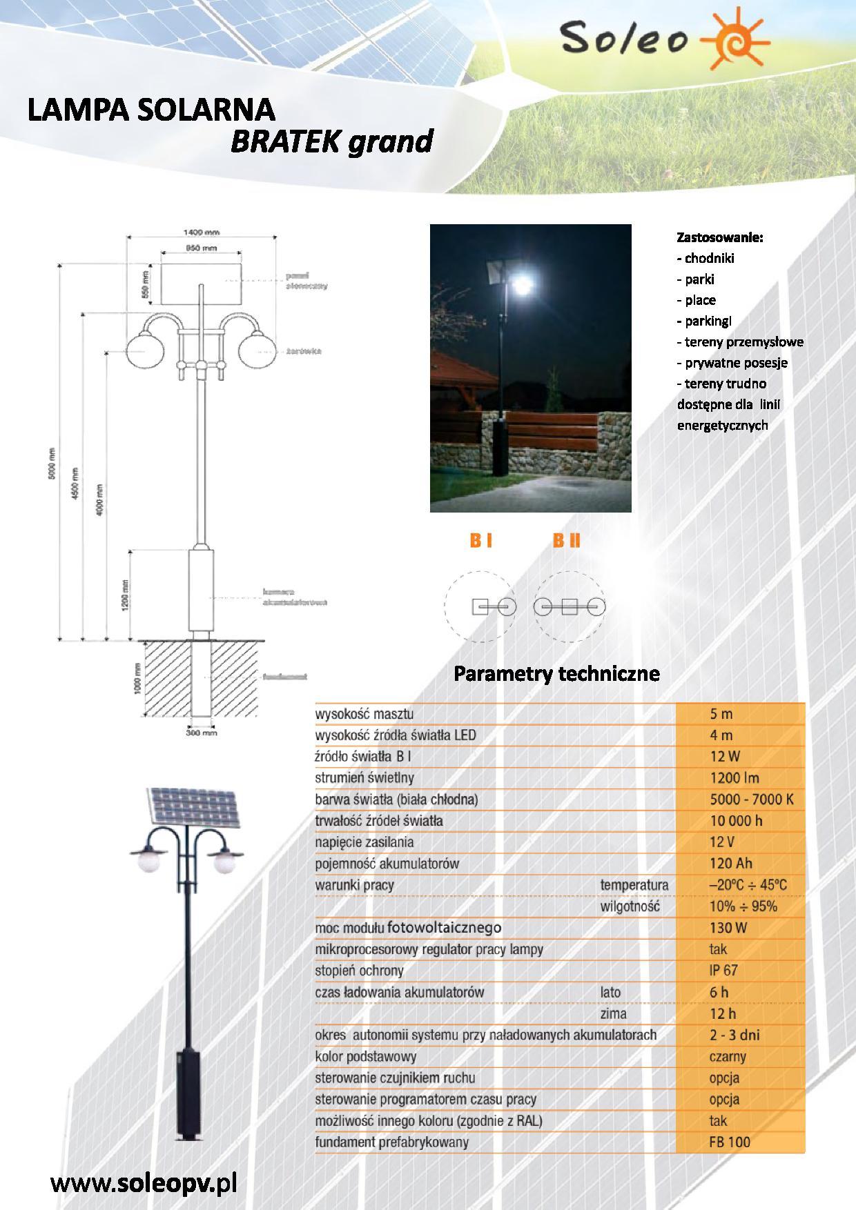 Lampa solarna Bratek Grand